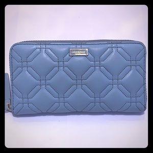 GU Kate Spade Astor Court Neda Teal Quilted Wallet